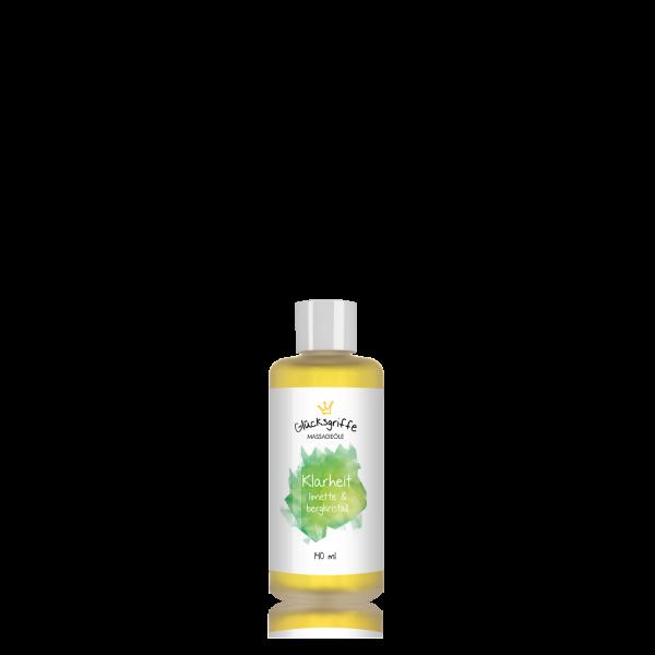 Massageöl Klarheit mit Bergkristall 140ml BIO