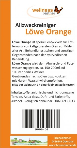 Löwe orange - Orangenölreiniger