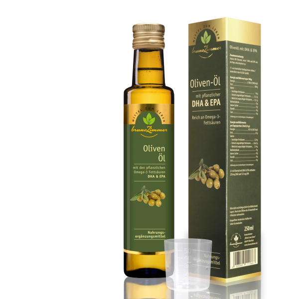 BIO-Olivenöl mit Omega 3 (DHA & EPA)