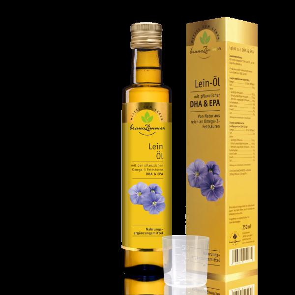 BIO-Leinöl mit extra Omega 3 (DHA & EPA)