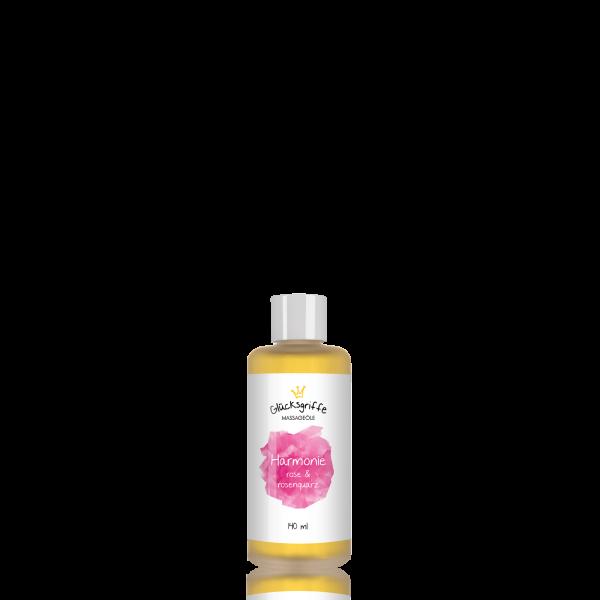 Massageöl Harmonie mit Rosenquarz 140ml BIO